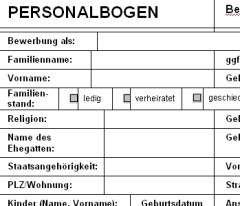 personalbogen palmlife wissen - Personalbogen Muster