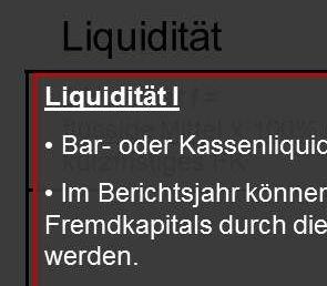 Kennzahlen Liquidität Tutor