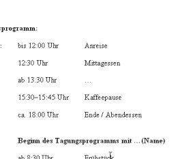Fortbildung Zeitplan