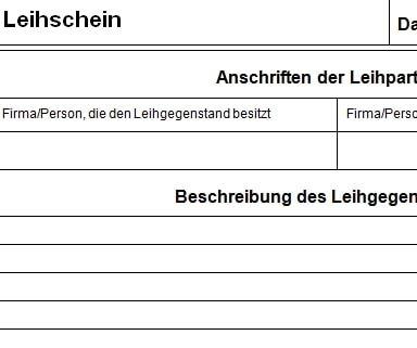 Leihschein