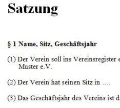 Satzung 1
