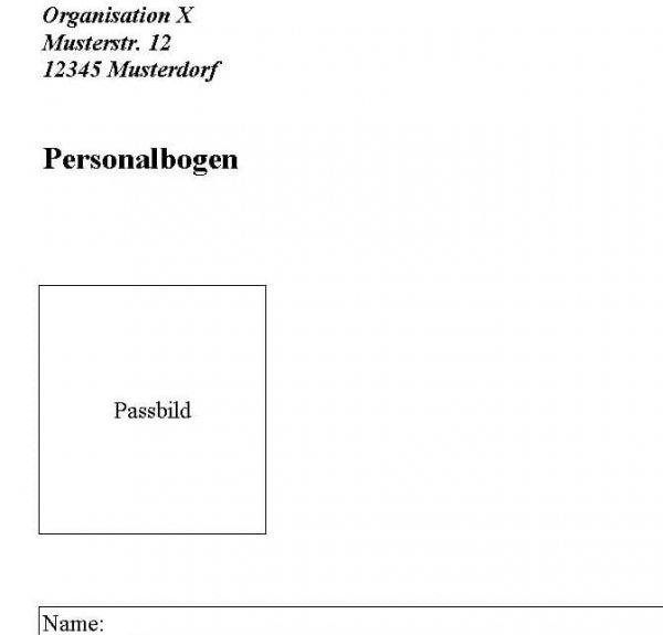 Personalbogen 2